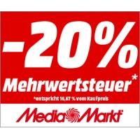 Media Markt Mehrwertsteuer sparen – 16,67% Rabatt auf ALLES!