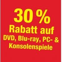 30% Rabatt auf DVDs / Blu-rays / Konsolen- und PC-Games bis 02. Juli