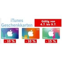 Bis zu 15 % Rabatt auf iTunes Karten bei Lidl – bis 9. Juli