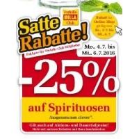 Billa: 25 % Rabatt auf Spirituosen bis 6.7.2016 (nur Billa-Clubmitglieder)