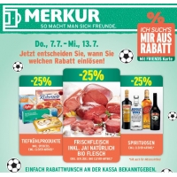 Merkur: 25 % Rabatt auf 3 Warengruppen (zB.: Spirituosen) – bis 13. Juli