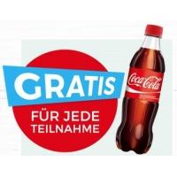 Gratis Coca Cola 0,5 L für Gewinnspiel-Teilnahme bei Merkur