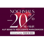 Kastner-Öhler.at – 20% Rabatt auf bereits reduzierte Markenmode