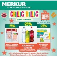 Merkur: -25 % auf 3 Warengruppen (zB.: alkoholfreie Getränke) bis 20.7.