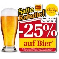 Billa: 25 % Rabatt auf Bier (Radler) bis 16.7.2016 für Clubmitglieder
