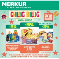 Merkur: -25 % auf 3 Warengruppen (zB.: Körperpflegeprodukte) bis 27.7.