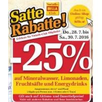 Billa: 25% Rabatt auf Mineral, Limo, Fruchtsäfte & Energydrinks bis 2.7. & 1+1/2+1 GRATIS-Angebote bis 3.8.2016