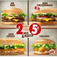 Burger King – 2 Burger für 5€