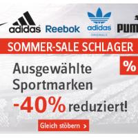 40% Rabatt auf ausgewählte Sportmarken bei Universal.at