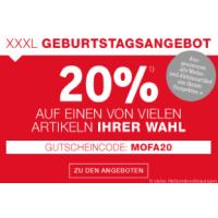 XXXLutz.at – 20% Rabatt auf einen Artikel eurer Wahl – nur heute!