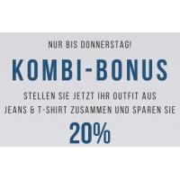 Tom Tailor Onlineshop: 20 % Kombi-Rabatt auf Jeans & T-Shirts