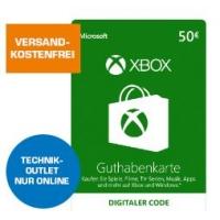 50 € Xbox Live Guthabenkarte [Xbox One, Xbox 360] um 42 €