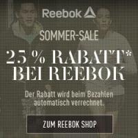 Reebok Sommer Sale – 25 % Rabatt auf viele Produkte bis 4. September