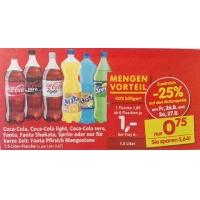Coca Cola/light/zero, Fanta, Sprite 1,5L um 0,75 € bei Interspar – 26./27.8.