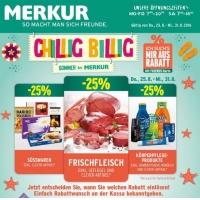 Merkur: -25 % auf 3 Warengruppen (zB.: Körperpflegeprodukte) bis 31.8.