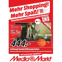 Media Markt Plus City Pasching Neueröffnungsangebote bis 03.09.2016