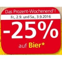Spar/Eurospar/Interspar: -25% auf Bier (Radler) am 2. u. 3.9.2016