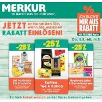 Merkur: -25 % auf 3 Warengruppen (zB.: Ja! Natürlich Produkte) bis 14.9.