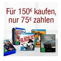 75 € Rabatt auf Blu-rays, DVDs und TV-Serien ab 150 € bei Amazon