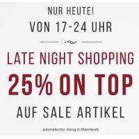 Tom Tailor Late Night Shopping – 25 % Rabatt auf bereits reduzierte Ware