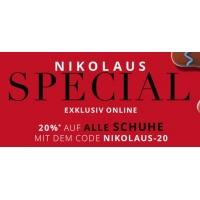 Peek&Cloppenburg Onlineshop – 20 % Rabatt auf alle Schuhe