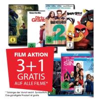 3+1 Gratis auf alle Blu-rays / DVDs bis 28. September 2016 bei Libro.at
