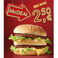 McDonalds McDeal Oktober – BigMac um 2,50 €
