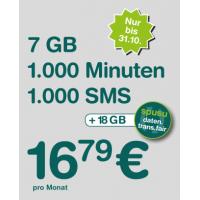 Spusu Tarif – 1000 SMS / 1000 Minuten / bis zu 18 GB Daten um 16,79 €