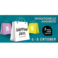 Shopping Days Fischapark Wiener Neustadt von 6. – 8. Oktober 2016