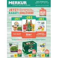 Merkur: -25 % auf 3 Warengruppen (zB.: Bier) bis 12.10.