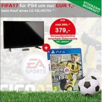 LG 43LH570V + FIFA 17 inkl. Versand um 380 € statt 437 € bei Interspar