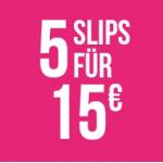 Hunkemöller Onlineshop – 5 Slips um 15 € statt mindestens 39,95 €
