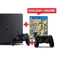 PS4 Slim 1TB + 2. Controller + FIFA 17 um nur 344 € bei Libro.at