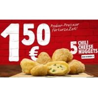 Burger King – 5 Chili Cheese Nuggets zum Porbier-Preis von 1,50 €