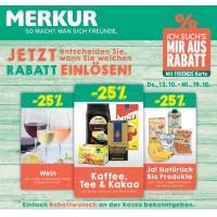 Merkur: -25 % auf 3 Warengruppen (zB.: Ja! Natürlich Produkte) bis 19.10.