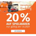 20 % Rabatt auf Spielwaren bei Müller (bis 1. Juni)