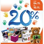 20 % Rabatt auf Spielwaren (inkl. Games!) bei Müller (bis 10. November)