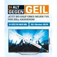 Alt gegen Geil Rabatt beim Kauf eines neuen TV bei Saturn – bis 04.05.