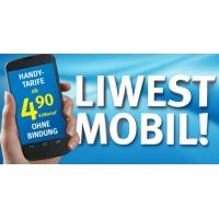 Liwest Mobil – neuer Mobilfunkanbieter – 100SMS/100Min/1GB um 4,90 €