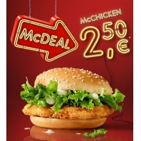 McDonalds McDeal November – McChicken (Veggie) um 2,50 €