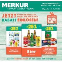 Merkur: 25 % Rabatt auf 3 Warengruppen (zB.: Bier) bis 9. November