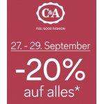 C&A (online&offline) – 25 % Rabatt auf euren Einkauf (am 3. & 4. Mai.)