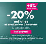 Marionnaud: 20% Rabatt ab Kauf von 2 Produkten