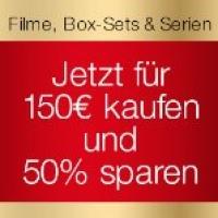 Amazon – 75 € Rabatt beim Kauf von DVDs & Blu-Rays ab 150 €