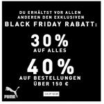 Puma Black Friday – 30 % Rabatt auf ALLES (reguläre + reduzierte Artikel)