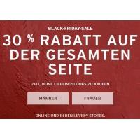Levis Black Friday Aktion – 30 % Rabatt auf ALLES (bis 27.11.)