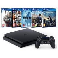 PS4 Slim 500GB Megabundle + 5 Games um 361 € statt 493 €