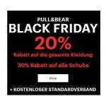 Pull & Bear- 20% Rabatt auf Kleidung / 30% Rabatt auf Schuhe