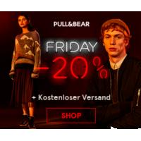 Pull & Bear Black Friday – 20% Rabatt auf alles und gratis Versand