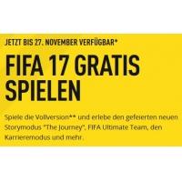 FIFA17 kostenlos auf Playstation 4 und Xbox One spielen – bis 27.11.